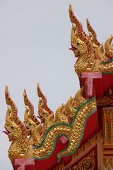 nagas on gable, Wat Amornburanaram, Ban Phai, Khon Khan