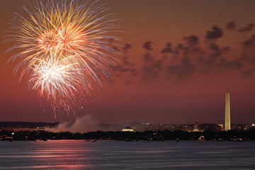 Fireworks over Washington DC