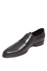 black leather men shoe
