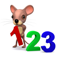 3d Mouse learns to count
