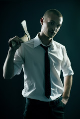 handsome guy with axe