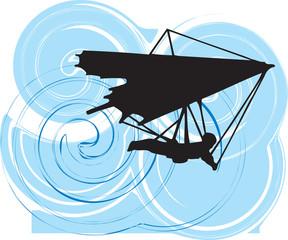 Hang Glider Vector Illustration