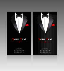 Vector business cards with elegant suits