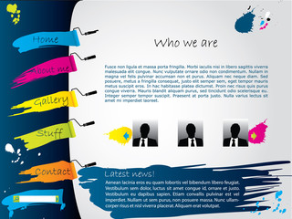 Painted website template