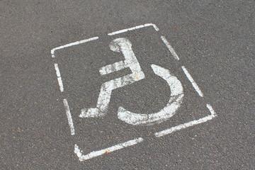Place reservée aux handicapés