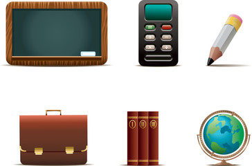 A set of 6 Education related icons