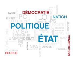 politique, mots image sur le thème de la politique