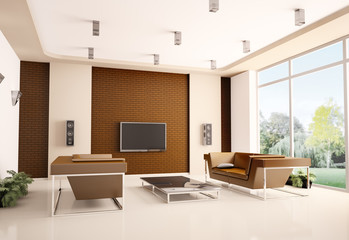 Wohnzimmer interior 3d