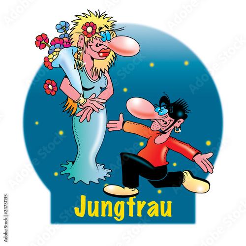 Lustige Sternzeichen: Jungfrau Stockfotos und