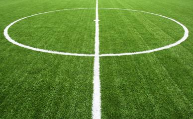 lines on soccer field green grass