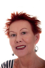 Older Woman with Wild Red Hair