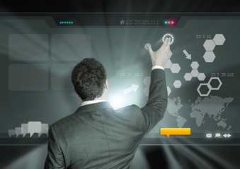 Wall Mural - Business and Technology
