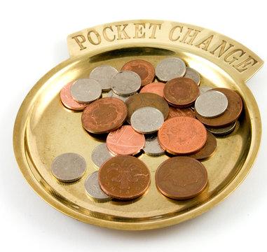 pocket change dish