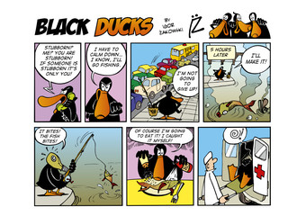 Fotorolgordijn Comics Black Ducks Comic Strip episode 48