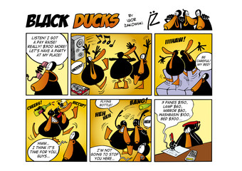 Foto op Aluminium Comics Black Ducks Comic Strip episode 47