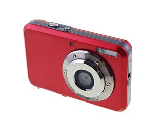 sexy red digital compact camera