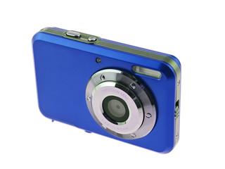 royal blue digital compact camera