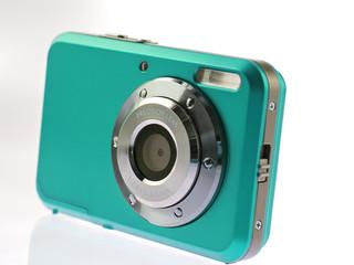 persian green digital compact camera