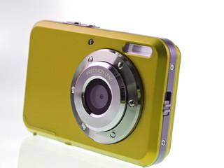 yellow gold digital compact camera