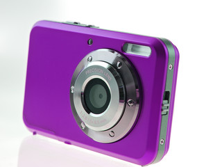 purple digital compact camera