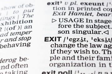 exit definition