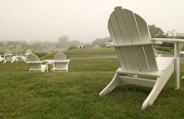 Beach chairs, Block Island, USA
