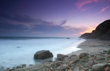 Sun set, Block Island beach, RI, USA