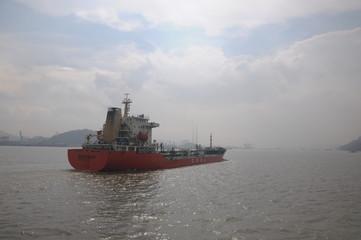 海洋石油的运输船