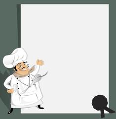 Chef with recipe