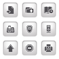 Gray button for internet 4