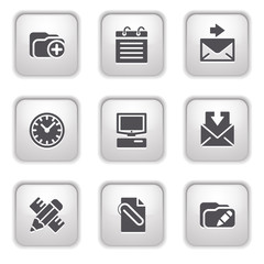 Gray button for internet 27