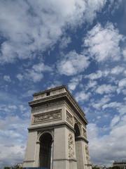Arco del triunfo en Paris (Francia)