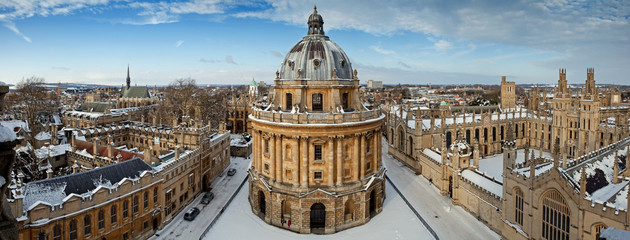 Panoramic view on the Radcliffe Camera and All Souls College