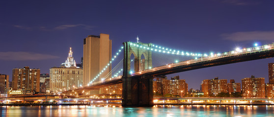 Fototapete - Brooklyn Bridge, New York City Manhattan