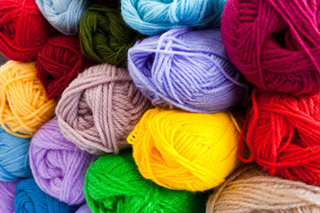 image of colorful different thread balls