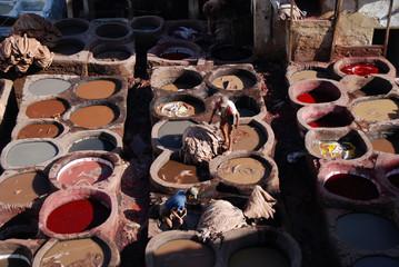 Traditional arabian tannery