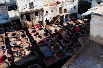 Traditional arabian tannery