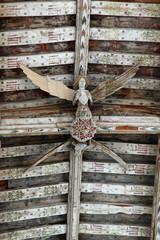 Carved Angels in Blythburgh Church, Suffolk, England