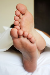 Couple of man's foot
