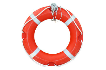 Ring-buoy on the white background
