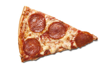 Piece of salami pizza
