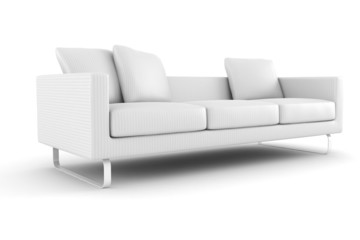 3d couch  isolated on white