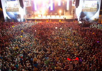 stage with big crowd