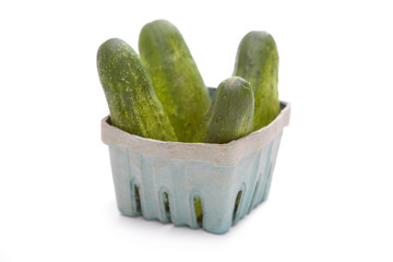 Kirby Cucumbers in Basket