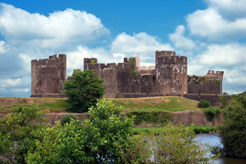 Caerphilly Castle Rear View