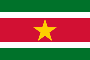 Fototapete - Suriname Flag