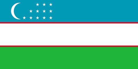 Wall Mural - Uzbekistan Flag