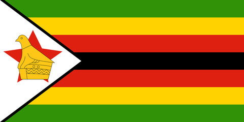 Wall Mural - Zimbabwe Flag