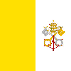 Fototapete - Vatican City Flag