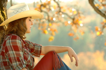 cowgirl and jeans